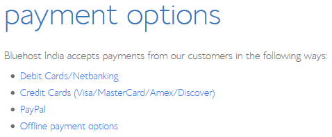 bluehost-payment-options